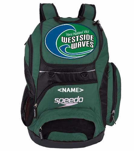 Westside Waves Green Swim Bag  - Speedo Large 35L Teamster Backpack