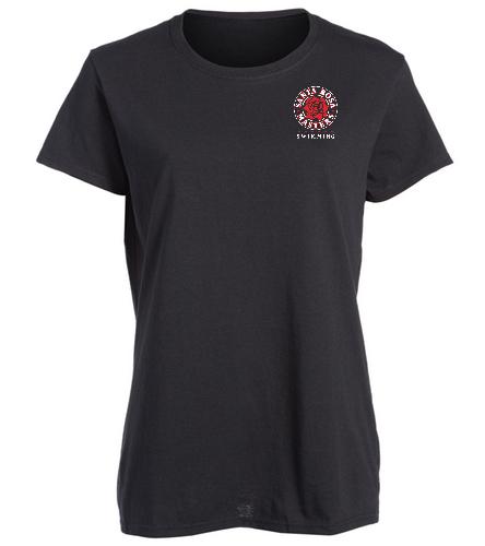 SRM Ladies T-Shirt - SwimOutlet Women's Cotton Missy Fit T-Shirt