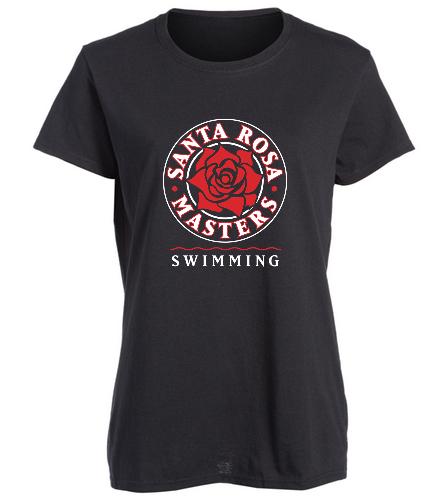 Women's Fit T-Shirt - Large Logo - SwimOutlet Women's Cotton Missy Fit T-Shirt