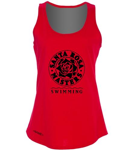 SRM Ladies Cotton Tank - Red - SwimOutlet Women's Cotton Racerback Tank Top
