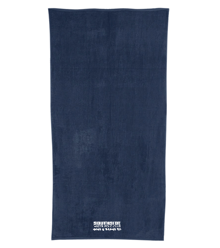 Southside WPC Text  Navy - Royal Comfort Terry Velour Beach Towel 32 X 64