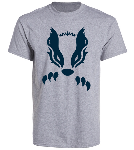 2019 Gray Honey Badger  - SwimOutlet Unisex Cotton Crew Neck T-Shirt