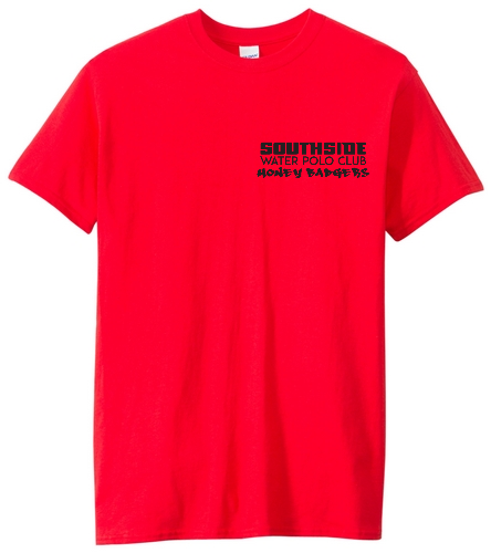2019 Back Logo Red  - SwimOutlet Unisex Cotton Crew Neck T-Shirt