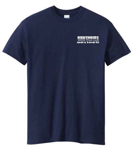 2019 Back Logo Navy - SwimOutlet Unisex Cotton Crew Neck T-Shirt