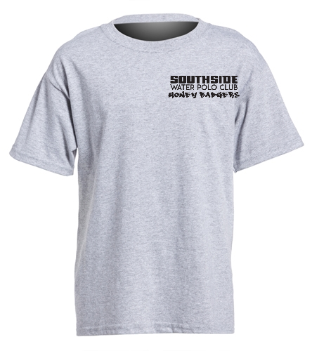 2019 Back Logo Gray - SwimOutlet Youth Cotton Crew Neck T-Shirt