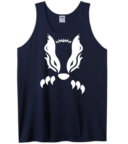 2019 Navy Honey Badger  - SwimOutlet Men's Cotton Tank Top