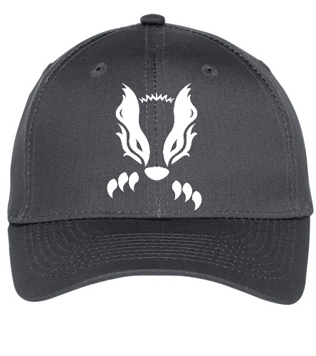 2019 Gray Honey Badger  - SwimOutlet Unisex Performance Twill Cap