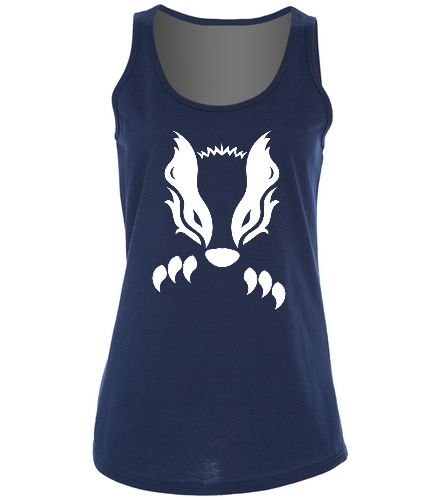 2019 Navy Honey Badger  - SwimOutlet Women's Cotton Racerback Tank Top
