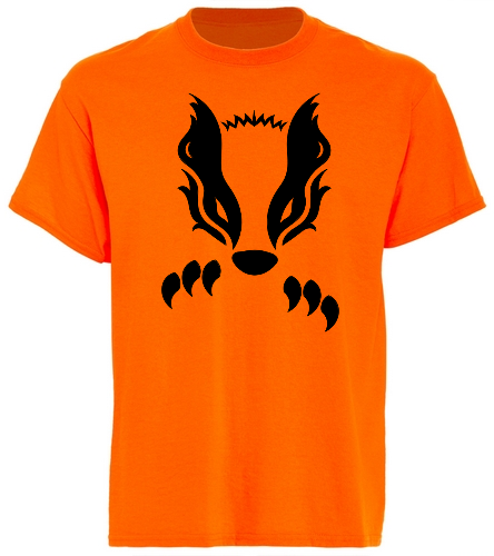 2019 Orange Honey Badger - SwimOutlet Unisex Cotton T-Shirt - Brights