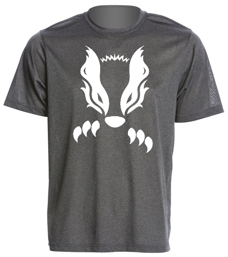 2019 Gray Honey Badger  - SwimOutlet Men's Tech Tee