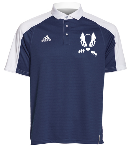 2019 Navy Honey Badger  - Adidas Men's Modern Varsity Polo