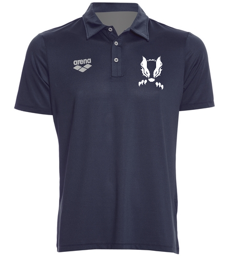 2019 Navy Honey Badger  - Arena Unisex Team Line Tech Short Sleeve Polo