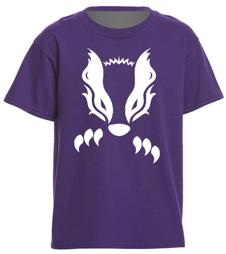 2019 Purple Honey Badger  - SwimOutlet Youth Cotton T Shirt - Brights
