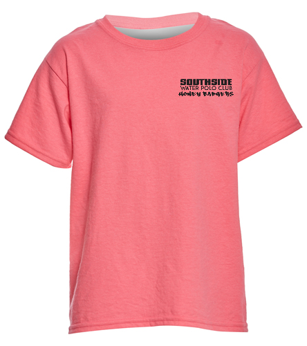 2019 Back Logo Neon Pink - SwimOutlet Youth Cotton T Shirt - Brights