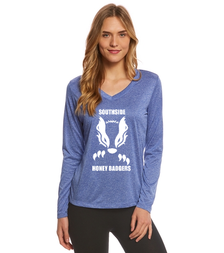 2019 Logo and Text  - SwimOutlet Women's Long Sleeve Tech T Shirt