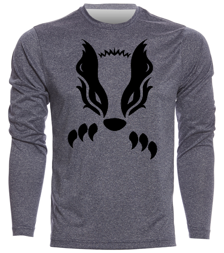 2019 Navy with Black Honey Badger  - SwimOutlet Men's Long Sleeve Tech T Shirt