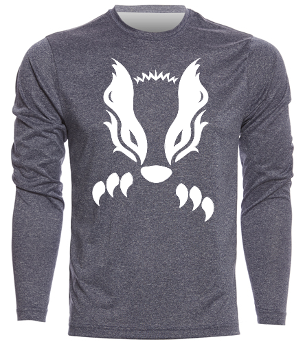 2019 Navy with White Honey Badger  - SwimOutlet Men's Long Sleeve Tech T Shirt