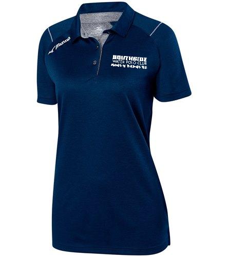 Navy Text  - Mizuno Women's Volleyball Polo