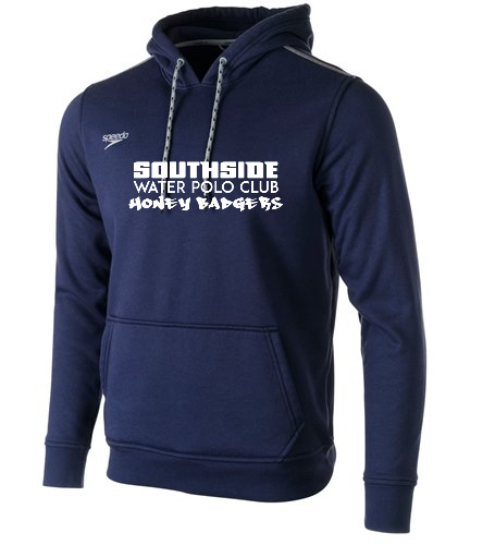 Navy Text  - Speedo Unisex Long Sleeve Hooded Sweatshirt