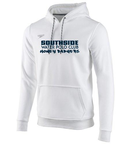 White Text  - Speedo Unisex Long Sleeve Hooded Sweatshirt