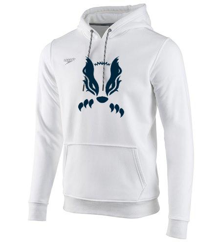 White New Badger  - Speedo Unisex Long Sleeve Hooded Sweatshirt