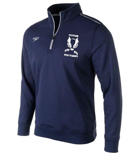 Navy Southside  - Speedo Unisex 1/4 Zip Long Sleeve Sweatshirt