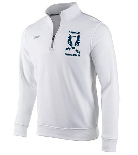 White Southside  - Speedo Unisex 1/4 Zip Long Sleeve Sweatshirt