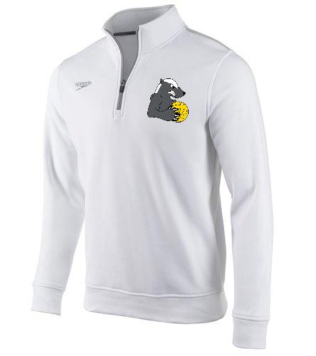 White OG Southside  - Speedo Unisex 1/4 Zip Long Sleeve Sweatshirt