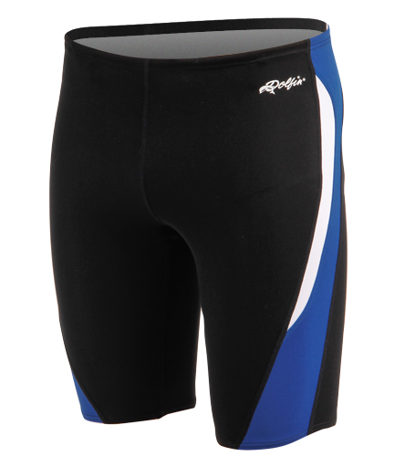 WRA Swim   - Dolfin Men's Chloroban Color Block Jammer Swimsuit