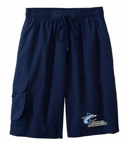 Cordova Blue Marlins Mens Board Short - Dolfin Male Board Short