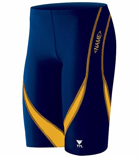 Cordova Blue Marlins - Mens/Boys Custom TYR Jammer Official Team Suit - TYR Men's Alliance Splice Jammer Swimsuit