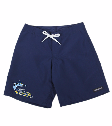Cordova Blue Marlins Girls Board Shorts - Tidepools Girls' Solid Long Boardshorts (Big Kid)
