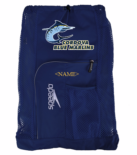 Cordova Blue Marlins - Speedo Mesh Bag with Logo - Speedo Deluxe Ventilator Mesh Bag