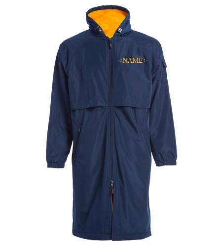 Cordova Blue Marlins Custom Parka 1 - Sporti Comfort Fleece-Lined Swim Parka