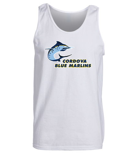 Cordova Blue Marlins - SwimOutlet Men's Cotton Tank Top