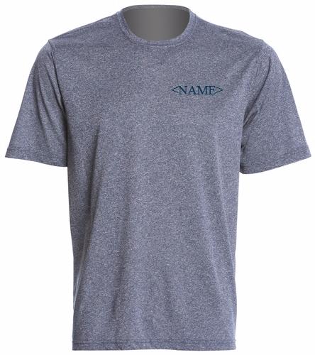Cordova Blue Marlins - Men's Tech Tee with Logo and Name Customization - SwimOutlet Men's Tech Tee