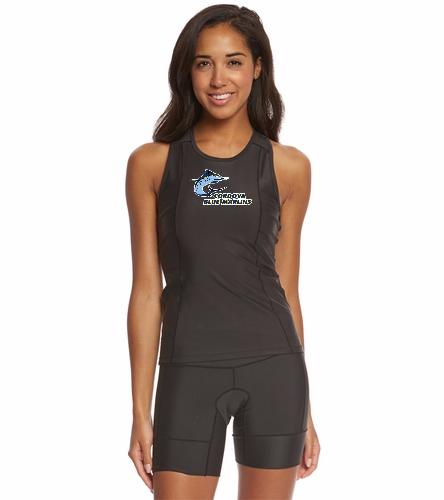 Cordova Blue Marlins Ladies Racerback Top - Logo Only - Sporti Women's Triathlon Performance Racerback Top