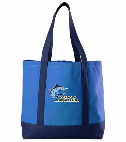 Cordova Blue Marlins - Tote with Logo - SwimOutlet Day Tote