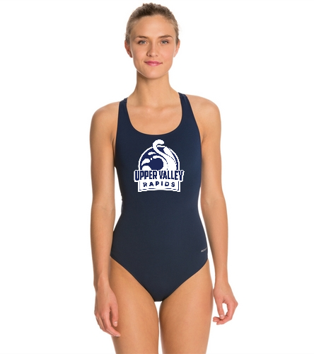 Upper Valley Rapids Women's Swimsuit - Sporti Poly Pro Solid Wide Strap One Piece Swimsuit
