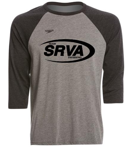 San Ramon Valley Aquatics - Black/Grey - Speedo Unisex Baseball Tee Shirt
