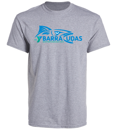 MidYBarracudas Grey - SwimOutlet Unisex Cotton Crew Neck T-Shirt