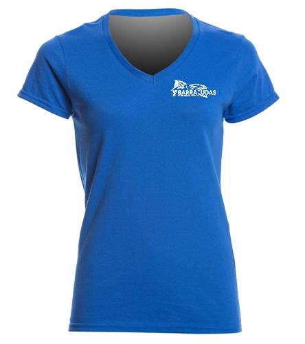 MidYBarracudas - SwimOutlet Women's Cotton V-Neck T-Shirt