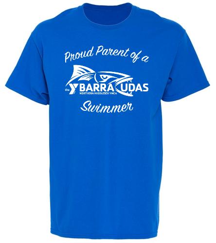 MidYBarracudas- parent t-shirt Blue  - SwimOutlet Unisex Cotton T-Shirt - Brights