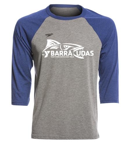 Middlesex YMCA (2) - Speedo Unisex Baseball Tee Shirt