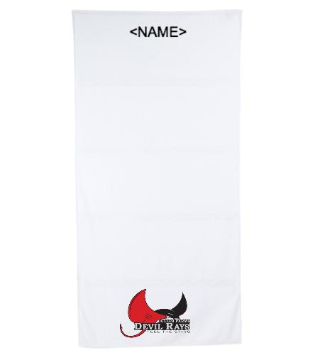 Team Towel (opt Name) - Royal Comfort Terry Velour Beach Towel 32 X 64