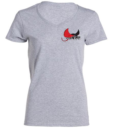 Dulles Farms Ladies Tee - SwimOutlet Women's Cotton V-Neck T-Shirt