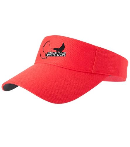 Heat Press DFDR Visor  - SwimOutlet Custom Cotton Twill Visor