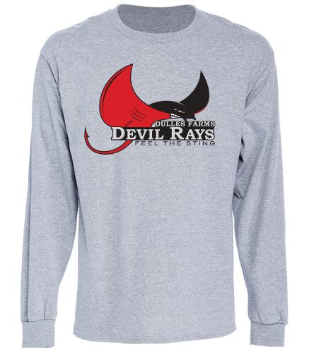 Adult Devil Rays Long Sleeve Shirt - SwimOutlet Cotton Unisex Long Sleeve T-Shirt
