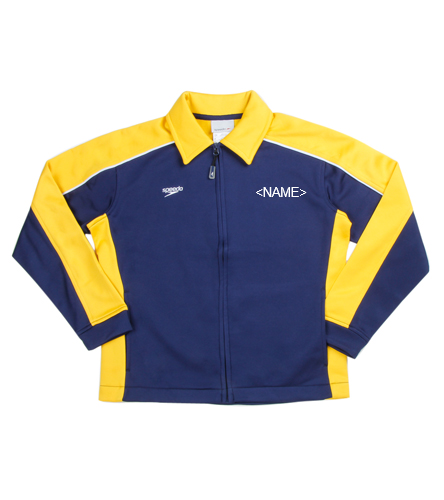 Warm Up with Block Lettering - Speedo Streamline Youth Warm Up Jacket