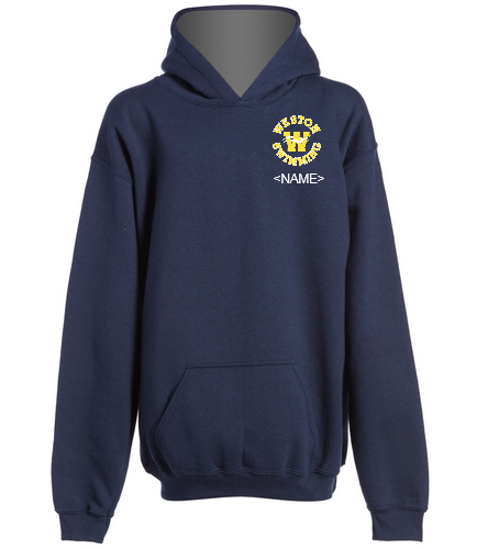 Youth Navy Hoodie Name Optional - SwimOutlet Youth Heavy Blend Hooded Sweatshirt